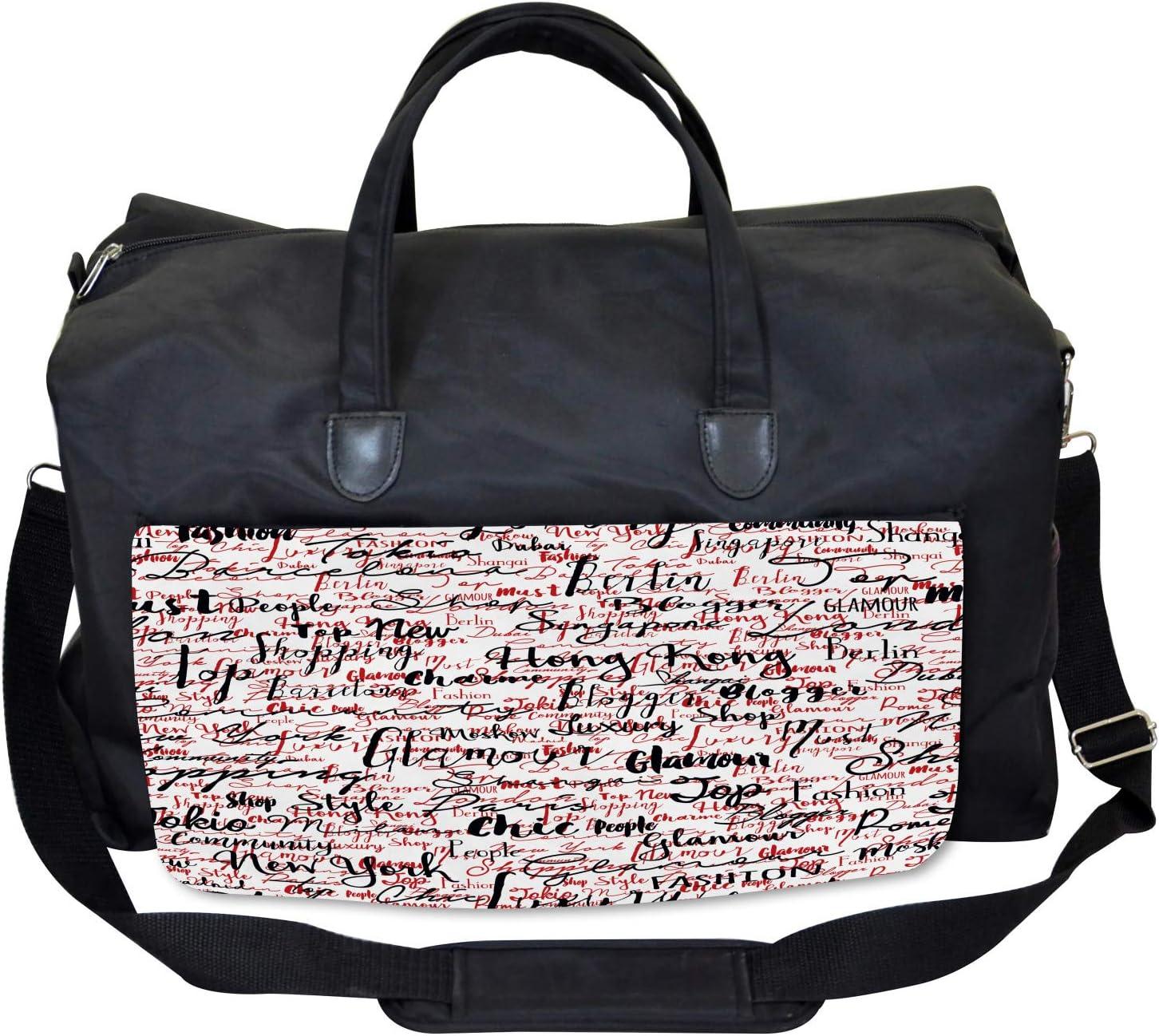 Popular Fashion Words Ambesonne Modern Gym Bag Large Weekender Carry-on