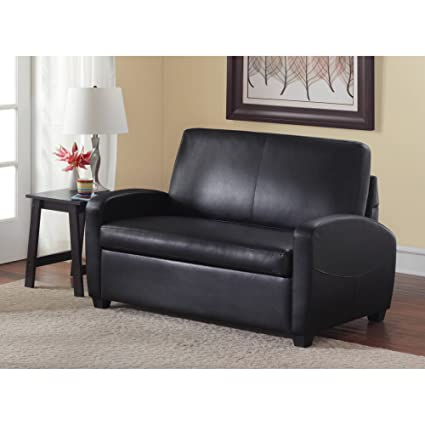 Magnificent Multifunctional And Comfortable 54 Loveseat Sleeper With Pull Out Twin Size Coil Mattress Black Finish Ideal For Any Room In Your Home Converts Uwap Interior Chair Design Uwaporg