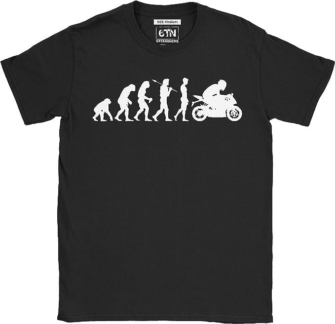 Motocross Motociclista Enduro Regalo Divertente Evoluzione Maglietta