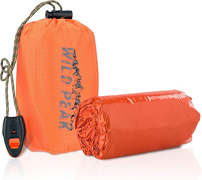 Double People Emergency Survival Sleeping Bivy Sack Bag Camouflage J2Z3