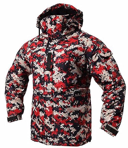 Southplay Chaqueta y pantalón de esquí-snowboard de diseño militar impermeable para hombre-Camo