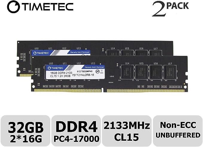 Timetec Hynix Ic 32gb Kit Ddr4 2133mhz Pc4 17000 Computer Zubehör
