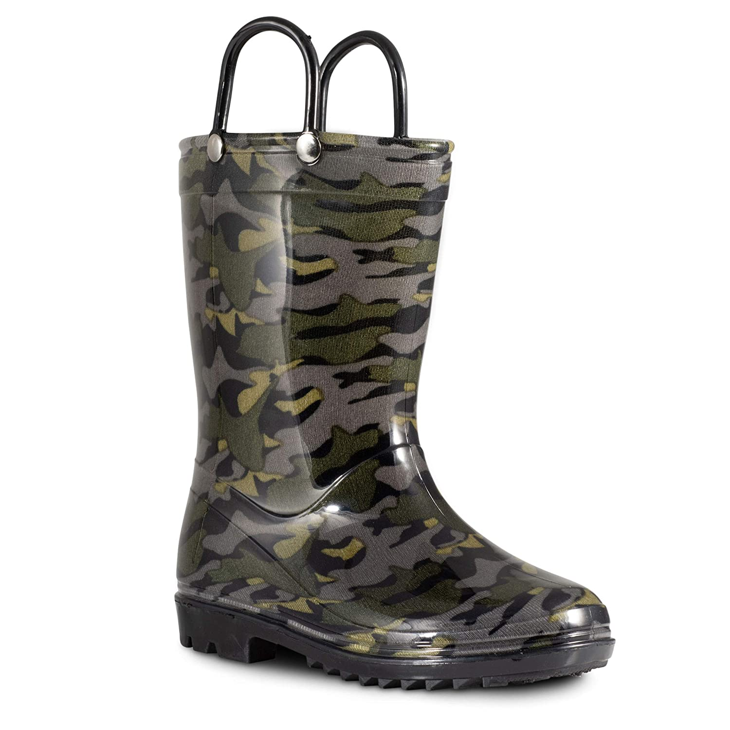 ZOOGS Camo Print Kids Rain Boots for Toddlers, Big Girls and Boys Rain Boots