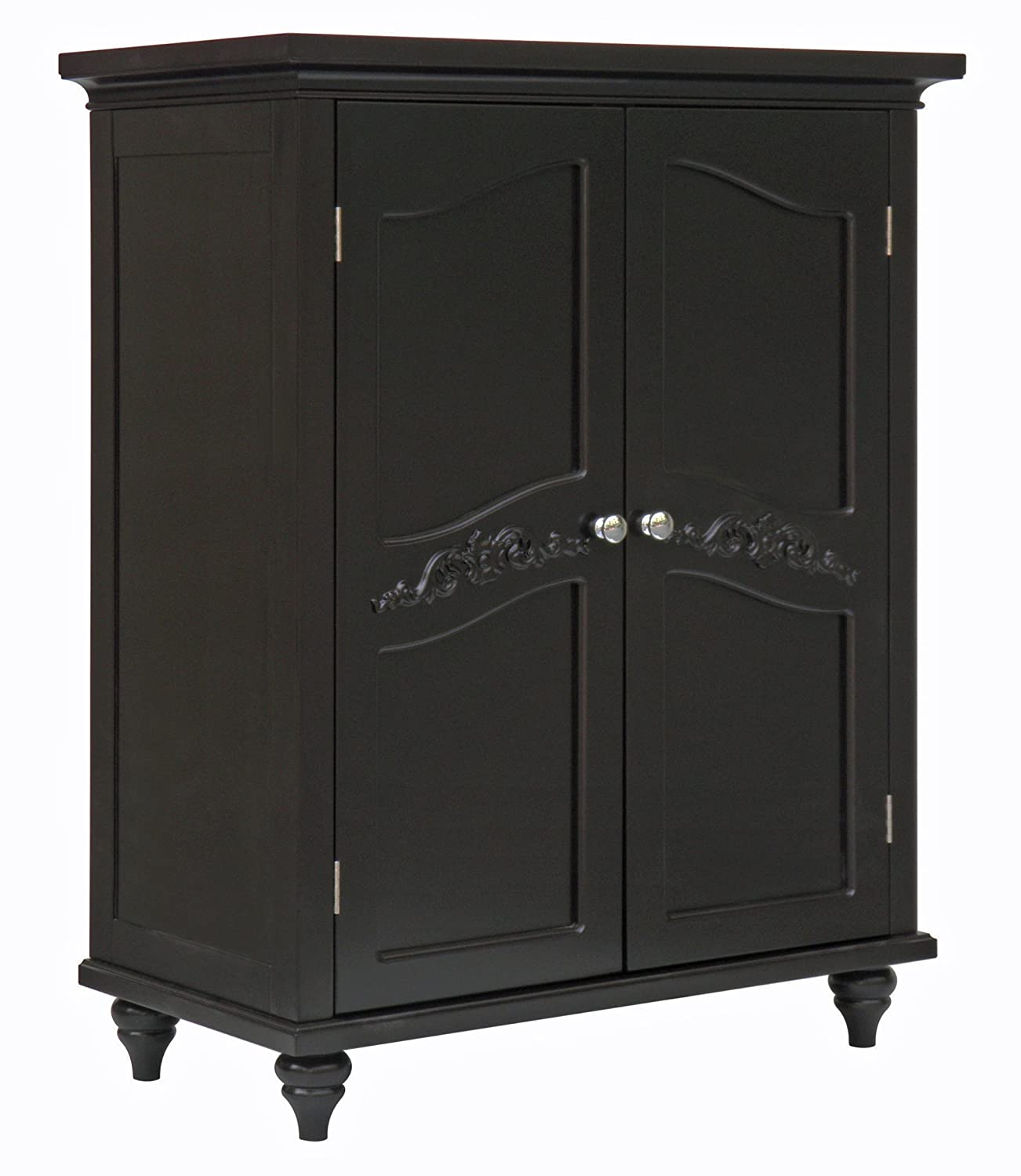 Brilliant Elegant Home Fashion Vera 2 Door Floor Cabinet Dark Espresso Home Interior And Landscaping Ologienasavecom