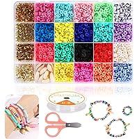 Braleto Polymeer Klei Kralen 18 Kleuren, Platte Ronde Spacer Kralen, Sieraden Maken Tool Kit Voor Accessoires Armbanden…