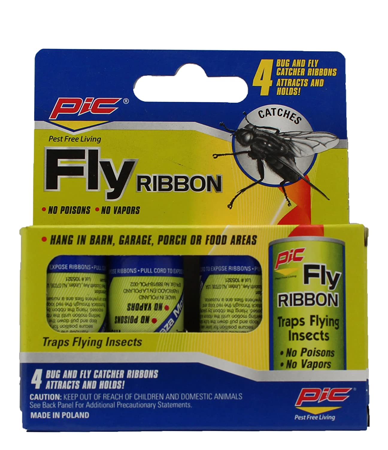 Amazon PIC Fly Ribbon Bug & Insect Catcher 4 Pack Insect