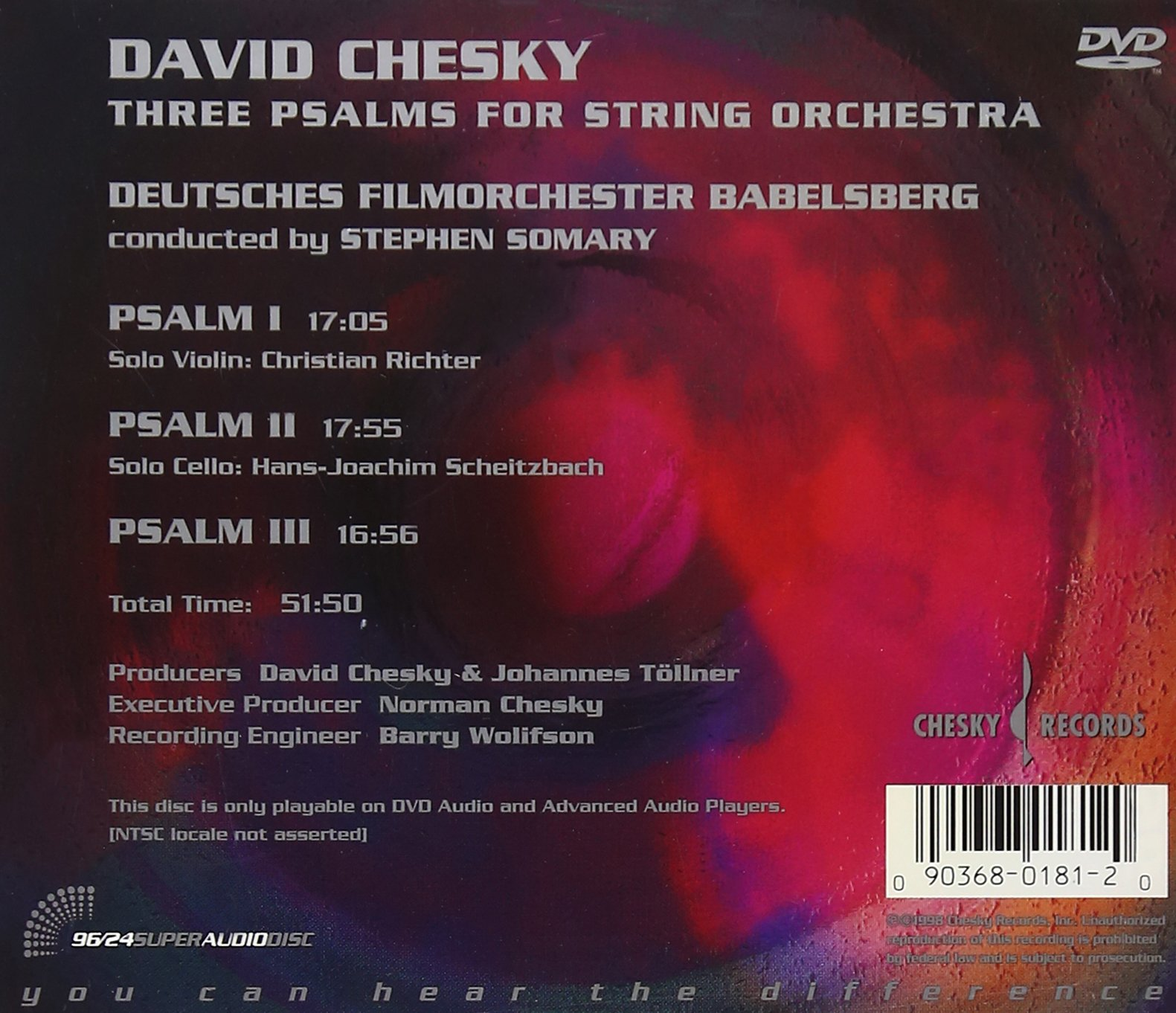 Three Psalms for String Orchestra by Chesky Records