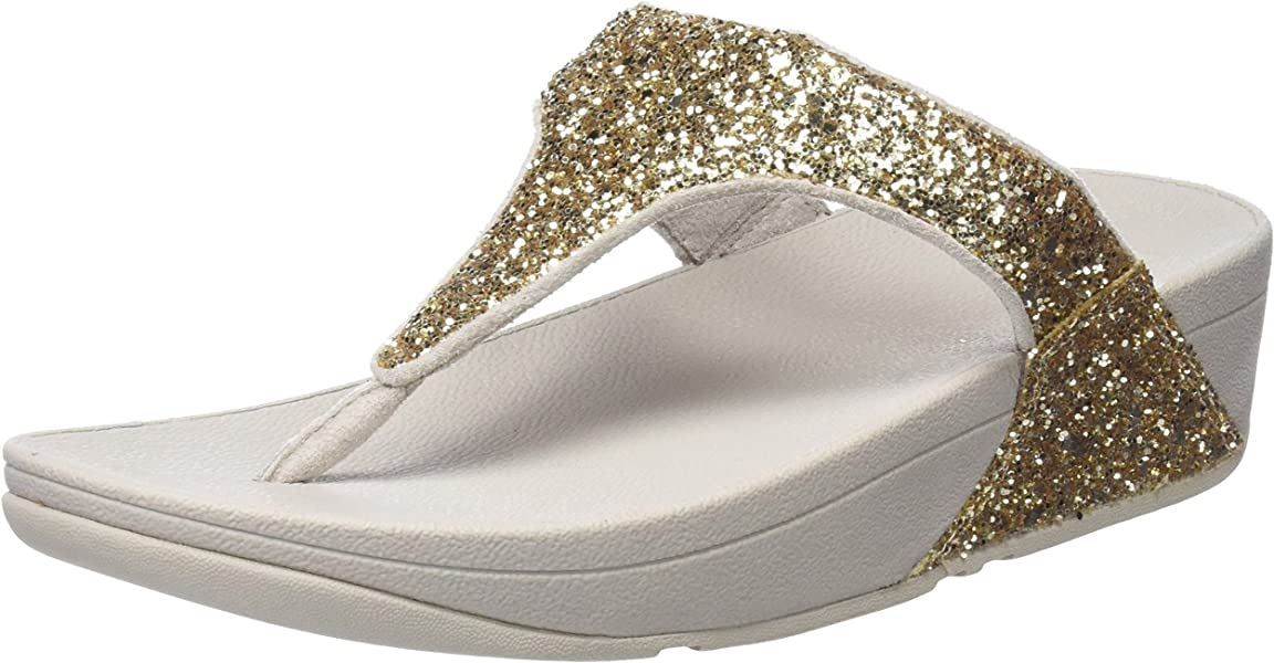 914e04d4134 FitFlop Glitterball Toe Post Colour  Pale Gold