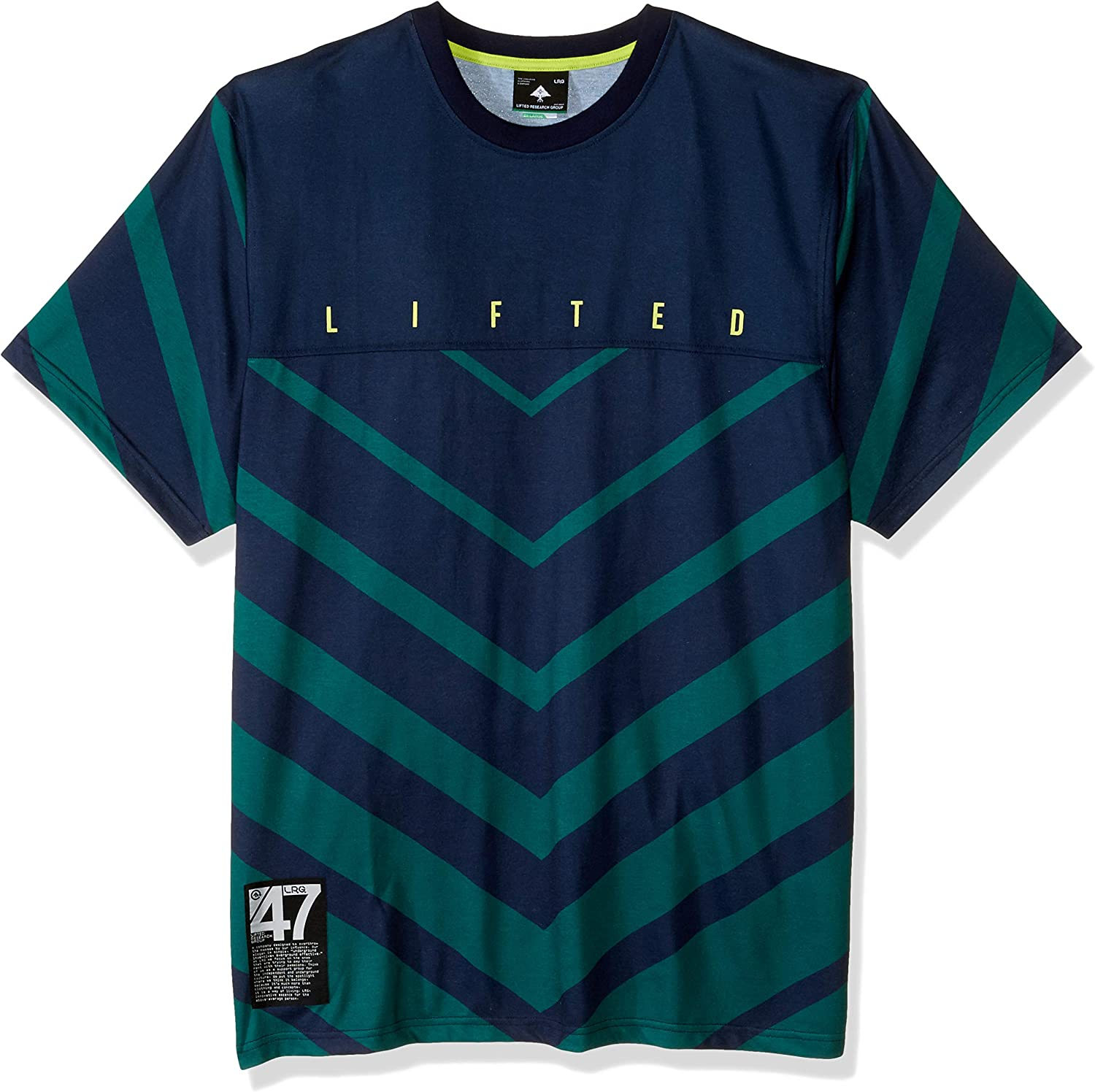 LRG Mens Lifted Research Group Sports Style Jersey Shirt