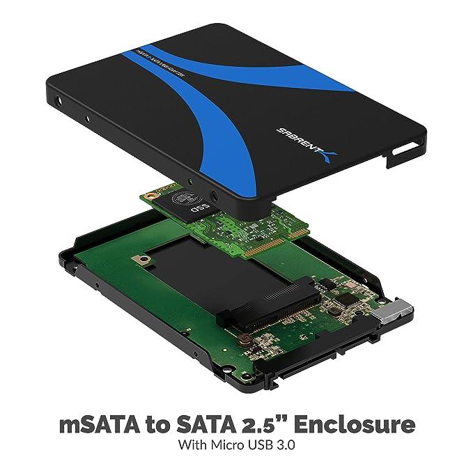 Amazon.com: Sabrent mSATA a USB 3.0/2.5-inch SATA III ...