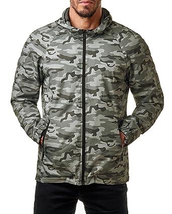 4a9073f28f4e Only   Sons Herren Windbreaker Camouflage Übergangs Jacke Regenjacke Kapuze  Camo Normex, Größe S