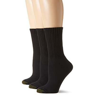 Gold Toe Women's 3-Pack Ultratec Crew Socks at Women's Clothing store: Athletic Socks