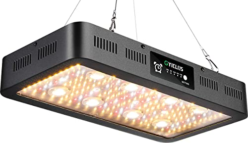 GYIELDS LED Grow Light, High PPFD COB Timer Control Full Spectrum Grow Lamp for Indoor Plants, Greenhouse and Hydroponics-GY2400