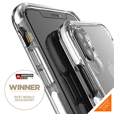 big sale 0df20 7a32d Gear4 Piccadilly Clear Case with Advanced Impact Protection [ Protected by  D3O ], Slim, Tough Design for iPhone X/XS – White