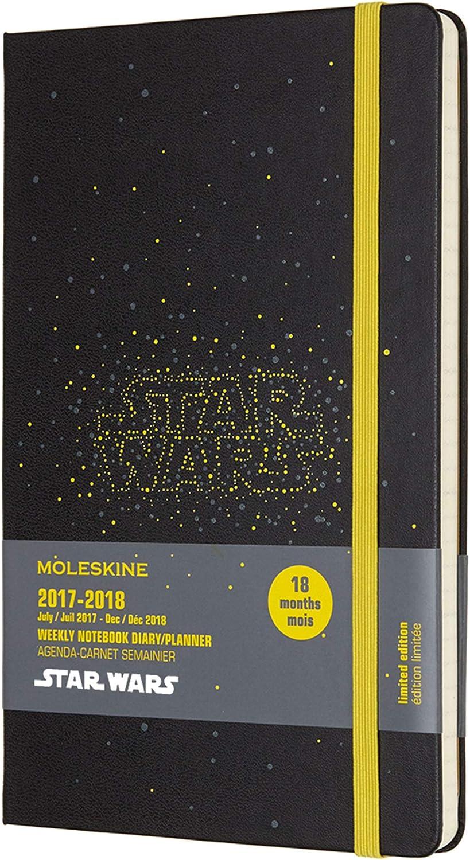 Moleskine 2017-2018 Agenda Settimanale Con Spazio Per Note, 18 Mesi, Large, Star Wars Logo