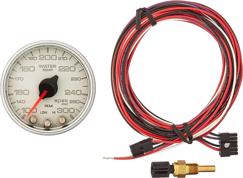 16V Spek-Pro Stepper Motor W//Peak /& Warn 2 1//16 Wht//Chrm Auto Meter P34411 Gauge Voltmeter