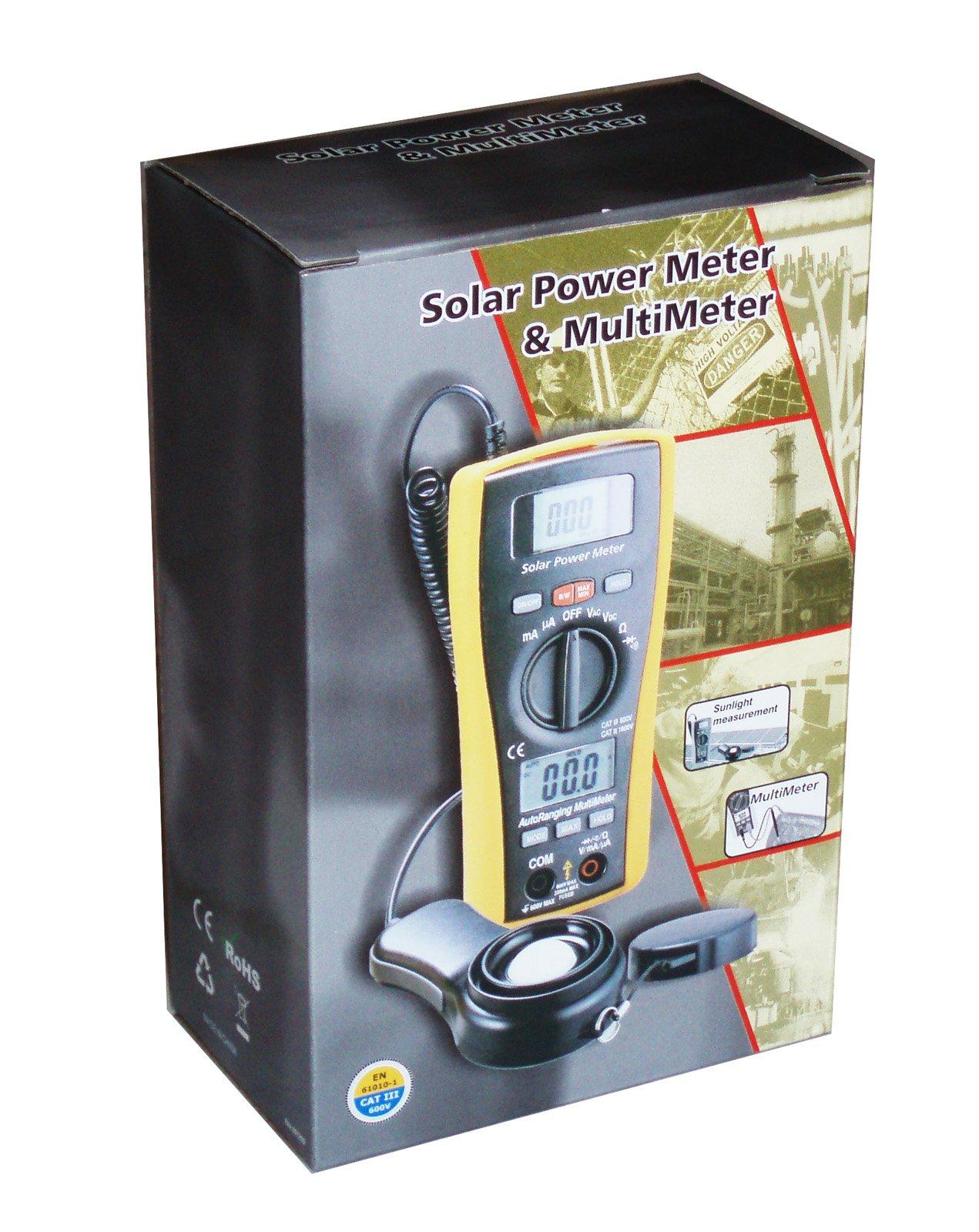LA-1017 Sun Power Solar Energy Sunlight Meter with DMM Digital Multimeter