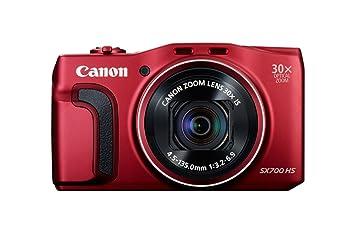 "Canon PowerShot SX700 HS - Cámara compacta de 16.1 Mp (Pantalla de 3"", zoom óptico 30x, estabilizador digital, vídeo Full HD), rojo"