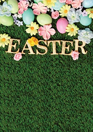6x9ft Easter Eggs Photo Backdrops for Pictures Natural Grass Green Lawn  Flowers Photography Background for Easter Decoration Photo Booth Studio  Props