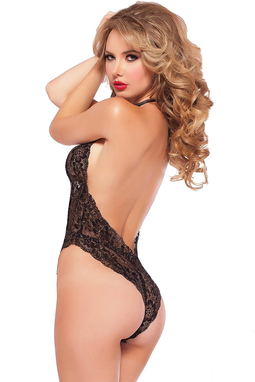 Amazon.com  Seven Til Midnight Women s Petite Kiss Of Envy Lace Teddy 89224971f
