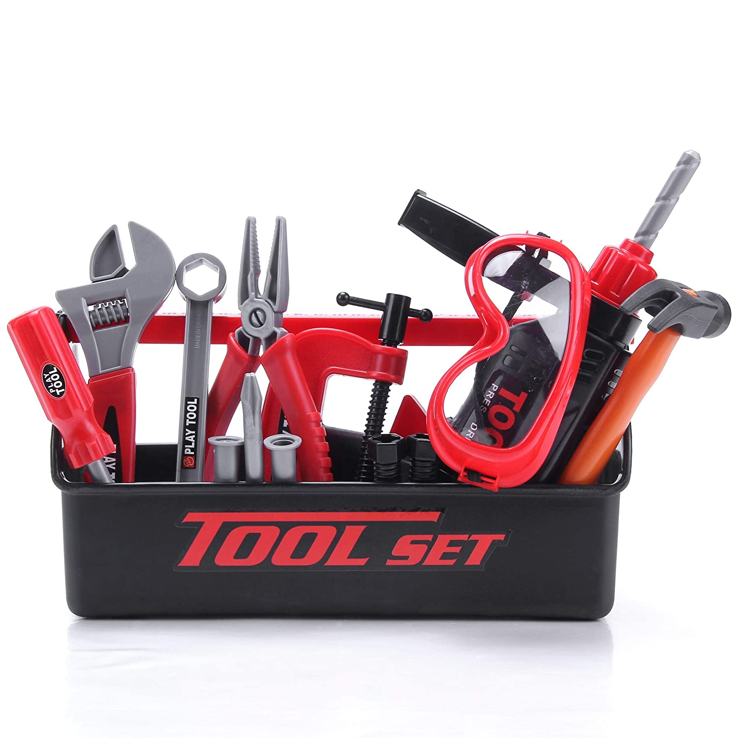 STEAM Life Kids Tool Set for Toddlers Age 3:7 Year Old Boy Toys - 23 pc Tool Box Set Toy Tools for Kids