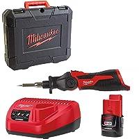 Milwaukee 4933459761 M12 SI-201C accu-soldeerbout met 1 x accu en oplader in koffer, rood/zwart