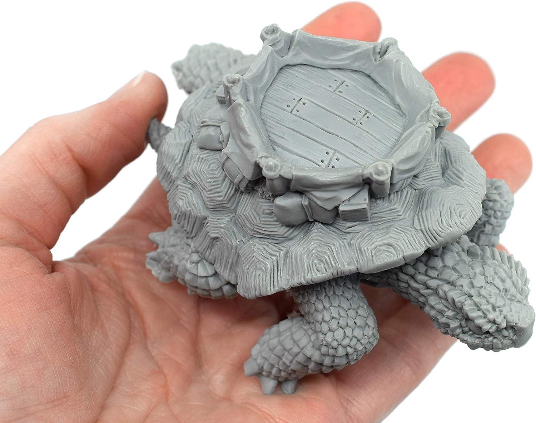 Figura Miniatura de Tortuga Stonehaven, 100% Resina de uretano – 57 mm de Alto – (para Juegos de Guerra de Mesa de ...