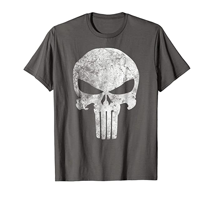 9aacba866b4369 Image Unavailable. Image not available for. Colour: Marvel Punisher Retro  Skull Symbol Graphic T-Shirt