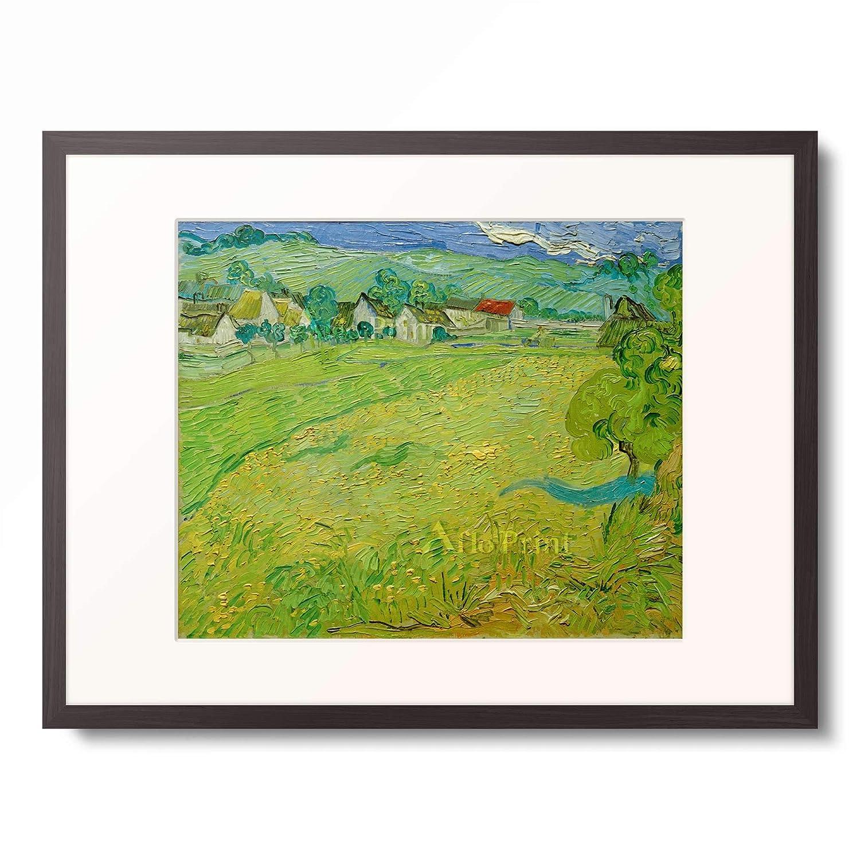 フィンセントファンゴッホ Vincent Willem van Gogh 「View of Les Vessenots near Auvers」 額装アート作品 B07PHK8RNS 03.木製額 12mm(墨) L(額内寸 509mm×394mm) L(額内寸 509mm×394mm)|03.木製額 12mm(墨)