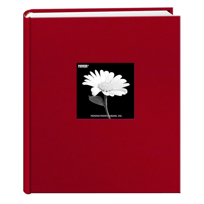 Pioneer Photo Albums 200 Pocket Fabric Frame Cover 5 x 7-Inch Photo Album, Apple Red DA-257CBF/AR