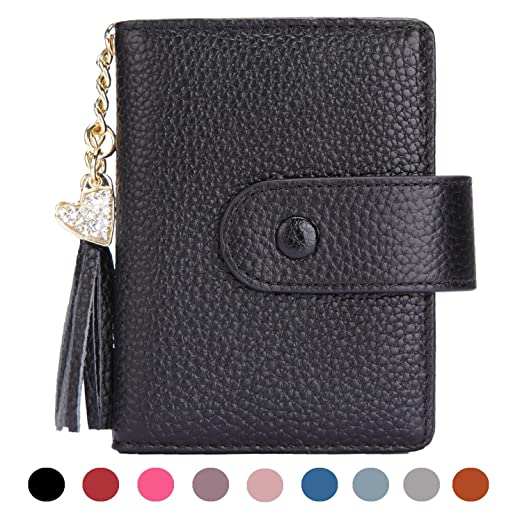 cea4f3412f7 Women's Mini Credit Card Case Wallet with ID Window and Card Holder purse 9  Colors(