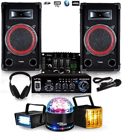 Pack sono 100 W RMS DJ de inicio 11 – 15 años dj-player 2 + Pack ...