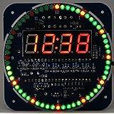 回転LEDデジタル時計電子基板キット