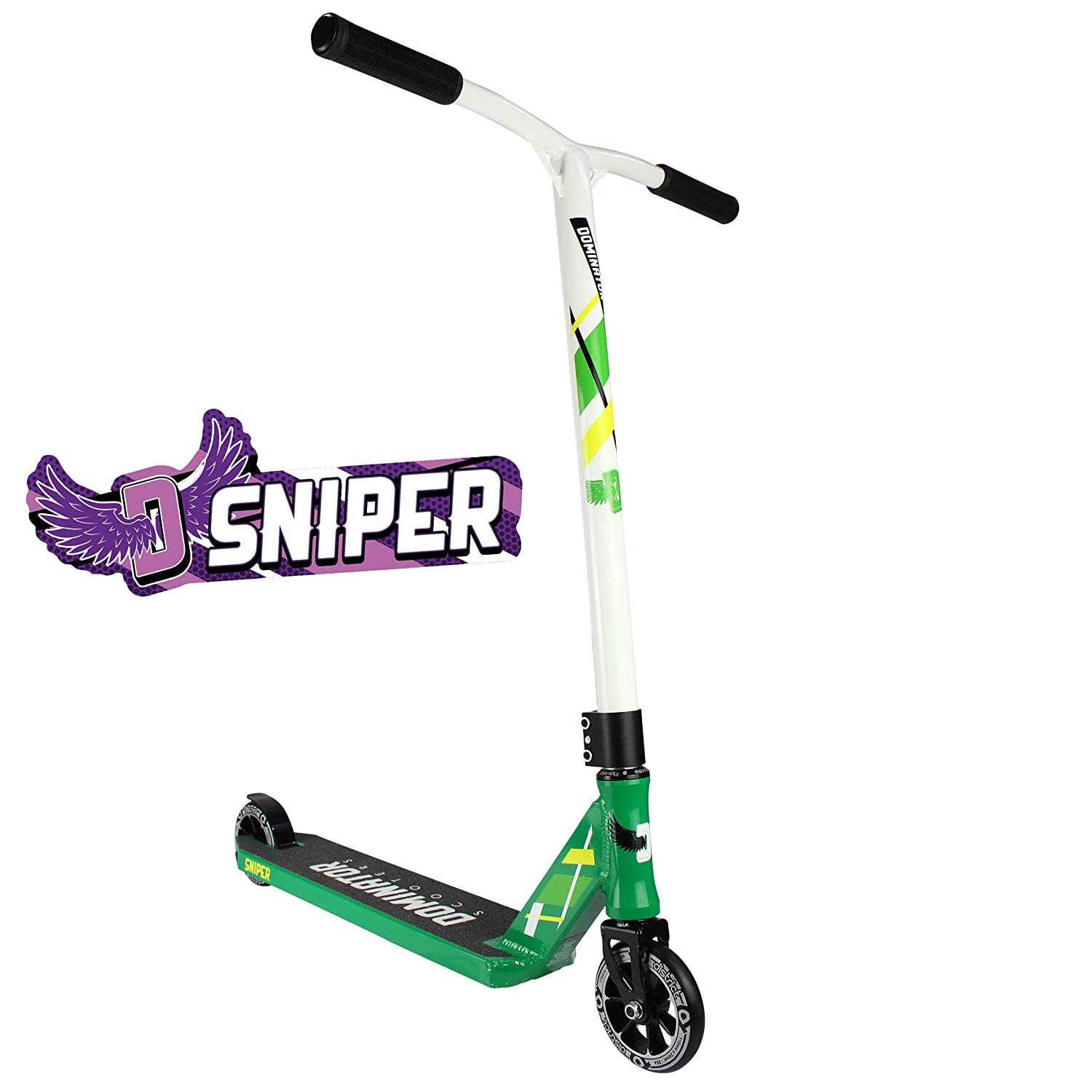 Dominator Sniper Pro Scooter (Green/White) Dominator Scooters