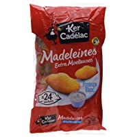 KER CADELAC Sachet de 24 Madeleines Fromage Blanc Extra Moelleuses 600 g - Lot de 4
