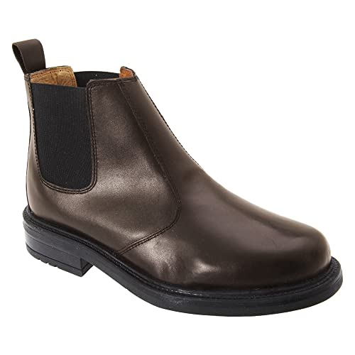 Roamers Mens Leather Quarter Lining Gusset Chelsea Boots