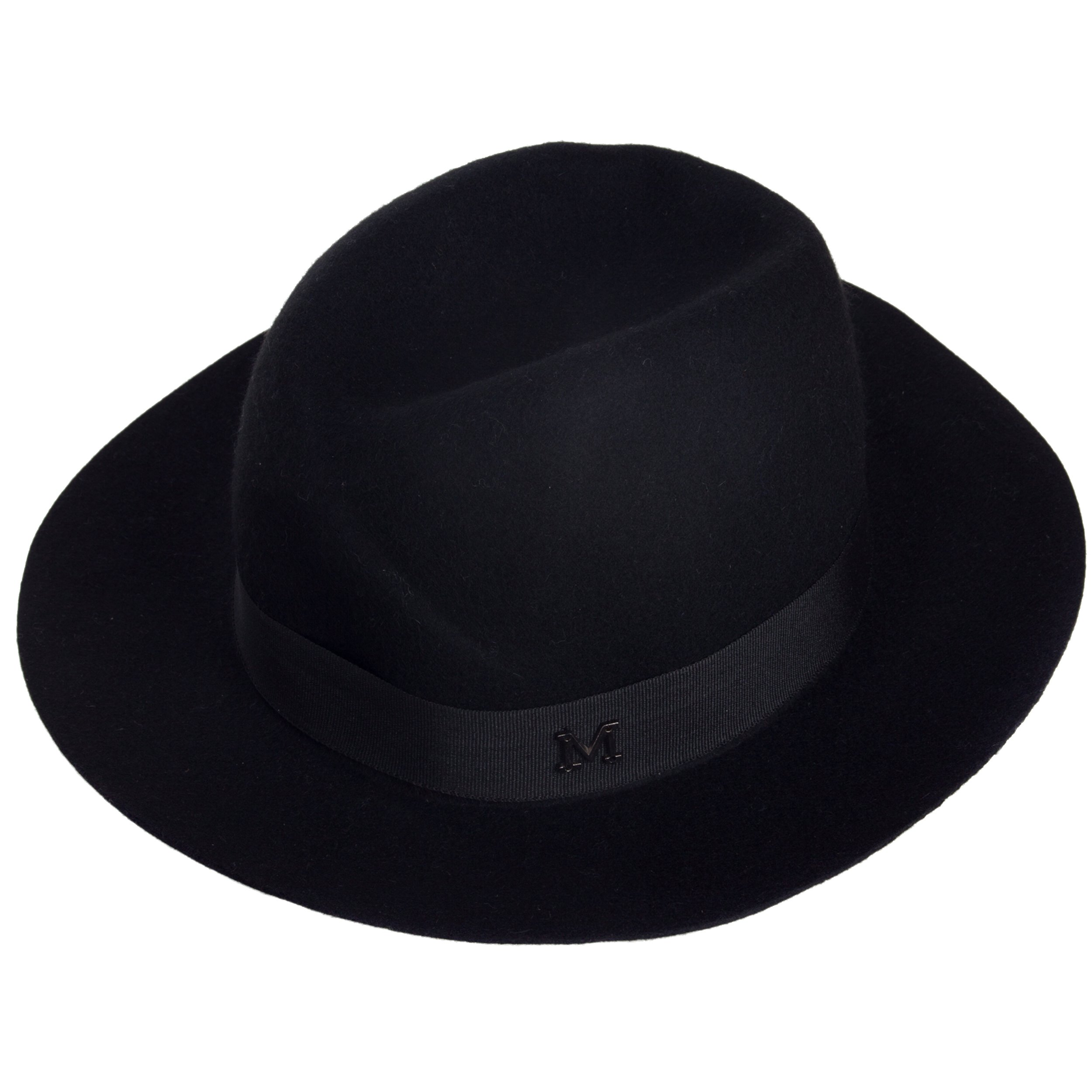 Aerusi Echo Women's Onyx Black Wool Felt Fedora Hat