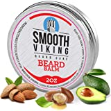 Smooth Viking Beard Balm For Men - Natural Leave-In Beard Softener Conditioner With Essential Oil & Bees Wax - Strong Hold St