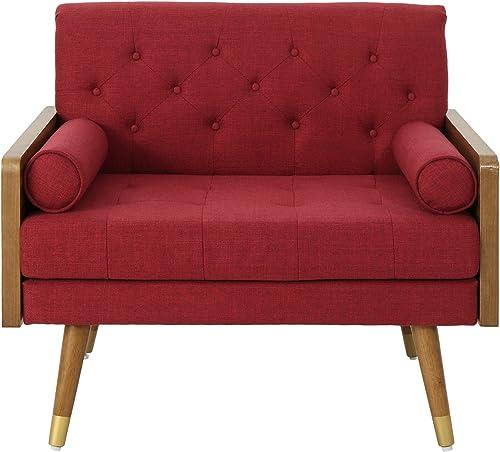 Christopher Knight Home Greta Mid Century Modern Fabric Club Chair