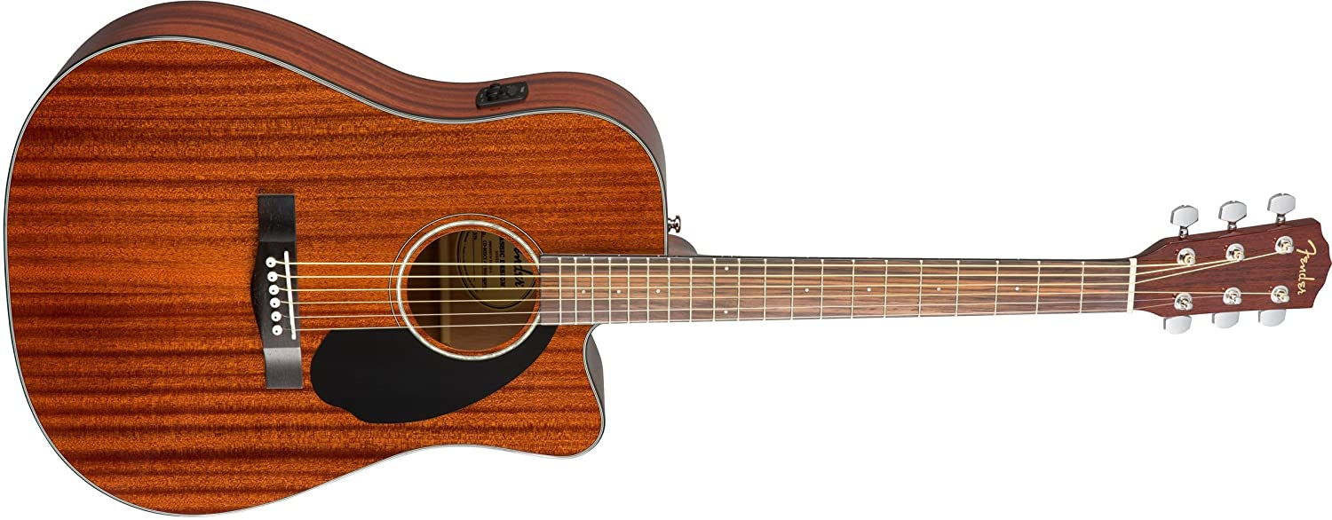 Fender CD-60SCE Acoustic-Electric Guitar (Mahagony): Amazon.in ...