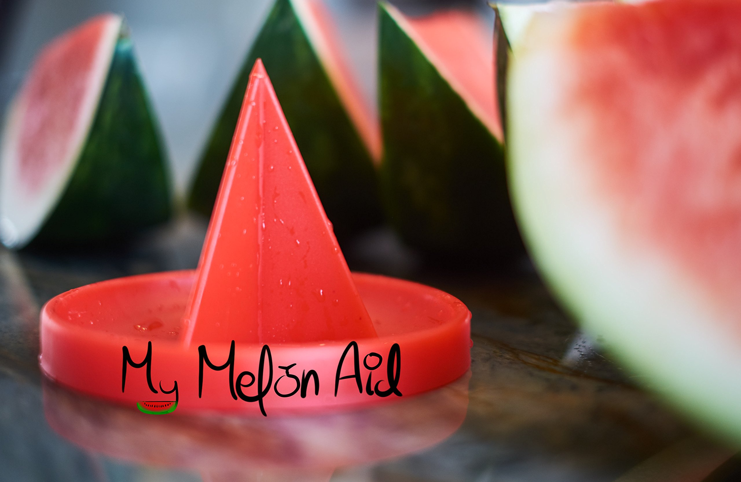 Patented Watermelon Slicer Stand - My MelonAid Cutter - Push, Cut & Eat Healthy - Safe, No Mess and No Stress - Tool for All types of Melons by My MelonAid (Image #1)