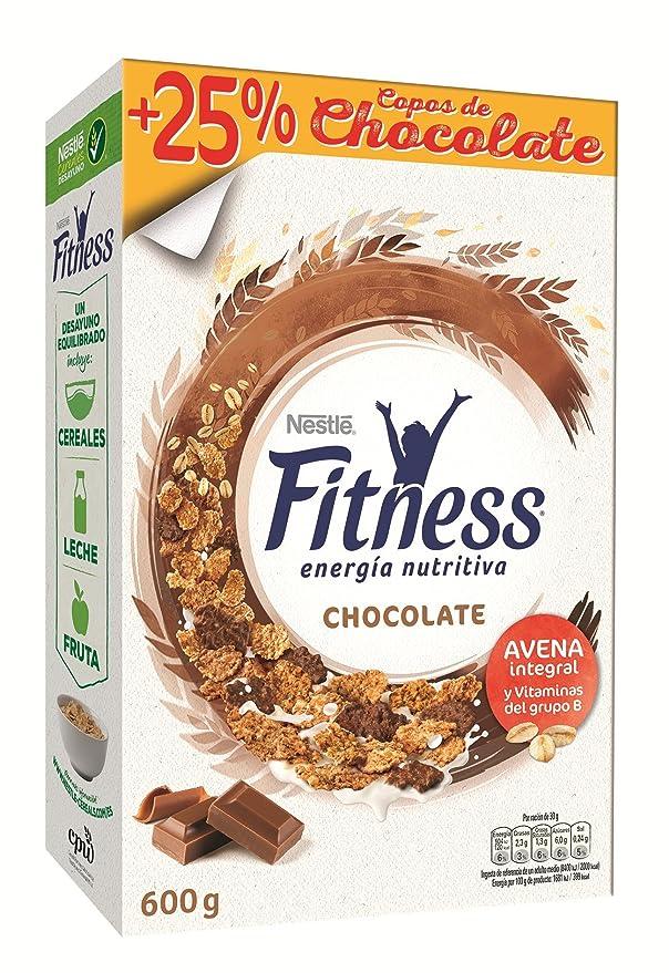 Cereales Nestlé Fitness con chocolate con leche, copos de trigo integral, arroz y avena integral tostados - Paquete de cereales de 600 gr: Amazon.es: Amazon ...