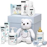 Suavinex Canastilla para Bebé Recién Nacido/Canastilla de Regalo para Bebé de 0-6 Meses, Color Azul