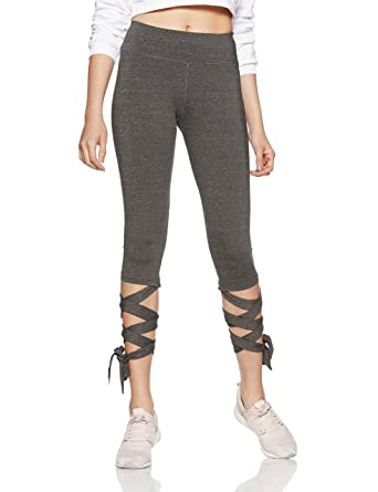 Just F by Jacqueline Fernandez Women s Sports Tights (12002 Charcoal  Melange Medium) 22a93318d0