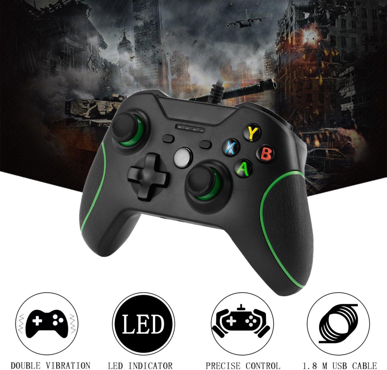 Xbox One Mando LESHP Controlador de Gamepad con cable USB Joystick ...