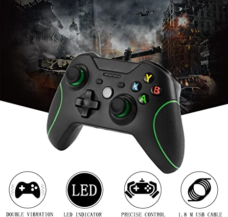 Xbox One Mando LESHP Controlador de Gamepad con cable USB Joystick para consola Xbox One PC Microsoft Windows: Amazon.es: Videojuegos