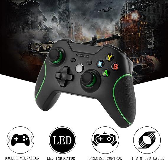 Xbox One Mando LESHP Controlador de Gamepad con cable USB Joystick para consola Xbox One PC Microsoft Windows: Amazon.es: Videojuegos