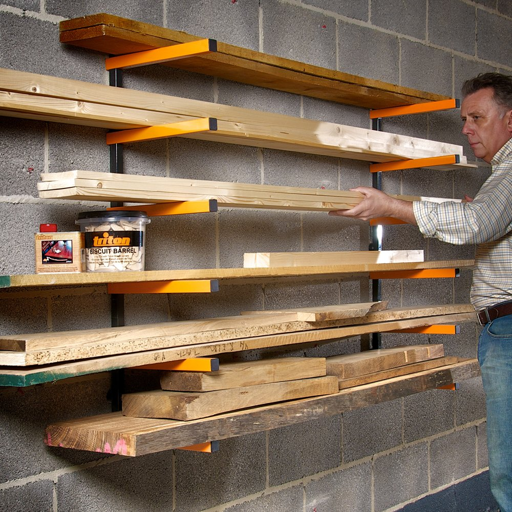 Portamate Wood Rack Lowes Triton Lumber Storage System For Anizer Plans Wall Diy Closet With Pipe