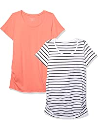 983e84bc9bbb3 Motherhood Maternity Women s Maternity BumpStart 2 Pack Short Sleeve Tee  Shirts