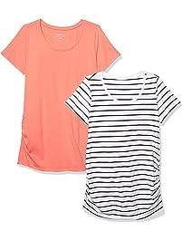 0df3cfd89 Motherhood Maternity Women s Maternity BumpStart 2 Pack Short Sleeve Tee  Shirts